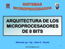 ARQUITECTURA DE LOS MICROPROCESADORES