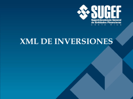XML DE INVERSIONES