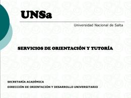 Diapositiva 1 - Universidad Nacional de Salta