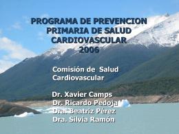 PROGRAMA DE SALUD CARDIOVASCULAR 2006