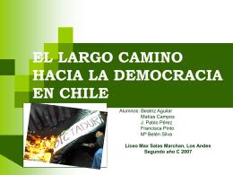 El largo camino hacia la democracia en Chile