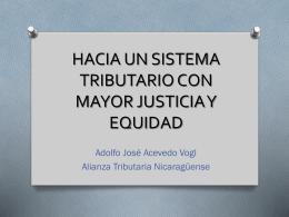 HACIA UN SISTEMA TRIBUTARIO CON MAYOR JUSTICIA Y …