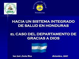 HACIA UNA INTEGRACION DE LOS SERVICIOS DE SALU …