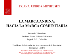 LA MARCA ANDINA: HACIA LA MARCA COMUNITARIA
