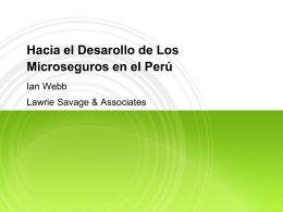 Experiencia y panorama de los microseguros en el Per&#250