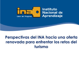 Perspectivas del INA hacia oferta academica
