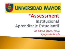 Estandar 7 Institutional Assessment*