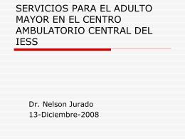 SERVICIOS PARA EL ADULTO MAYOR