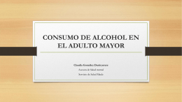 CONSUMO DE ALCOHOL EN EL ADULTO MAYOR