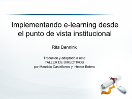 Implementando e-learning desde el punto de vista …