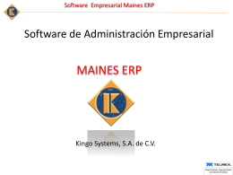 Software de control de Cybercafe MAINES