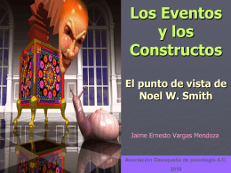 Los Eventos y los Constructos El punto de vista de Noel W