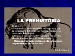 LA PREHISTORIA - Bienvenidos a la web LCM