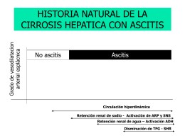 HISTORIA NATURAL DE LA CIRROSIS HEPATICA CON …