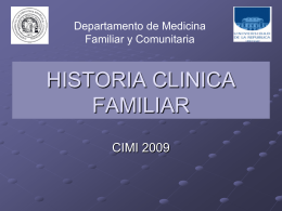 Historia clinica en Medicina Familiar