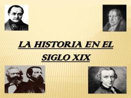 La historia en el siglo XIX - teoriadelahistoria