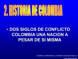 2 - HISTORIA DE COLOMBIA