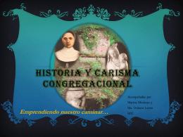 Historia y carisma congregacional