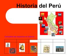 Historia del Per&#250