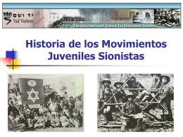 Historia de los Movimientos Juveniles Sionistas
