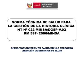 NORMA TECNICA DE HISTORIA CLINICA