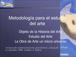 Historia del arte moderno - Facultad de Ciencias