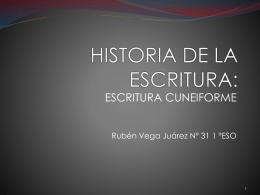 HISTORIA DE LA ESCRITURA:
