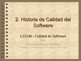 HISTORIA DEL CONTROL DE LA CALIDAD