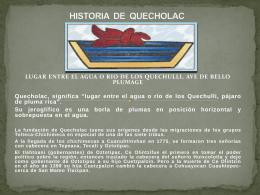 HISTORIA DE QUECHOLAC