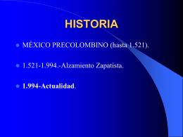 HISTORIA - Plataforma Solidaridad con Chiapas y Guatemala