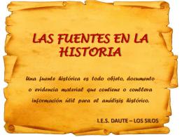 LAS FUENTES EN LA HISTORIA