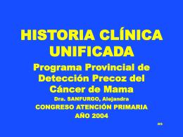 HISTORIA CLINICA UNIFICADA