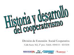 HISTORIA Y DESARROLLO DEL COOPERATIVISMO