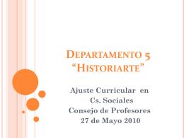 "Departamento 5 ""Historiarte"""