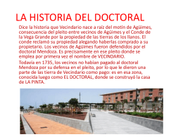 LA HISTORIA DEL DOCTORAL