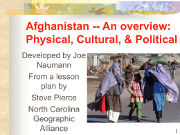 Afghanistan -- An overview