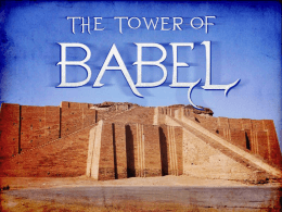 The Tower of Babel - Trussville church of Christ