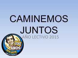 CAMINEMOS JUNTOS - Colegio Salesiano Don Bosco del …