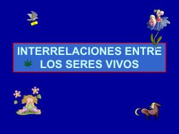 INTERRELACIONES ENTRE LOS SERES VIVOS