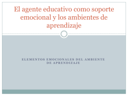 El agente educativo como soporte emocional