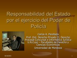 Responsabilidad del Estado por el ejercicio del Poder de
