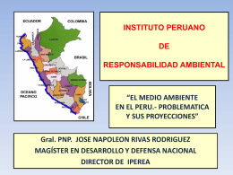 DIAGNOSTICO DE LA POLITICA Y EL MEDIO AMBIENTE EN …