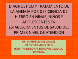 DIAGNOSTICO Y TRATAMIENTO DE LA ANEMIA POR …