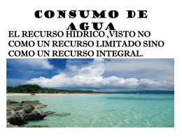 CONSUMO DE AGUA - Sitio Web de ieRed