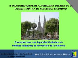 Diapositiva 1 - Seguridad Ciudadana