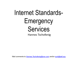IETF Emergency Services Architecture: A Tutorial