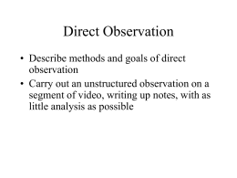 Direct Observation - UW Courses Web Server