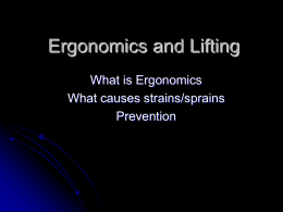 Ergonomics and Lifting - Home | ASC Cortland: Auxiliary