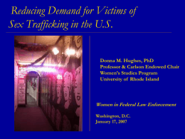 Sex Trafficking: Supply & Demand