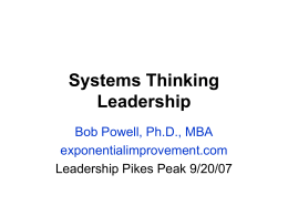 Systems Thinking Leadership